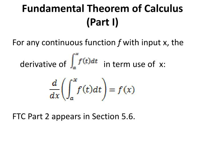 Fundamental Theorem of Calculus (Part I)