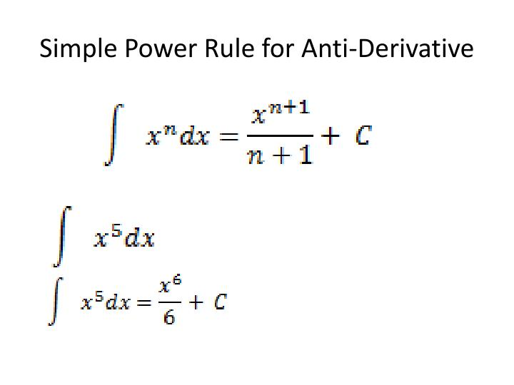 Simple Power Rule for Anti-Derivative