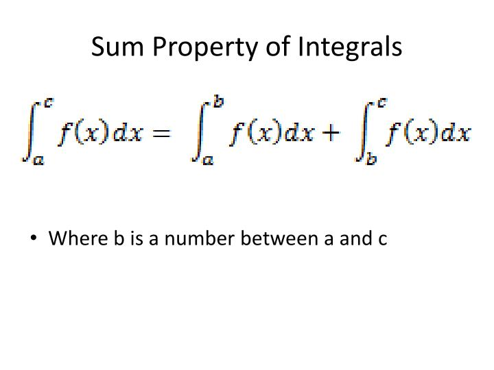 Sum Property of Integrals