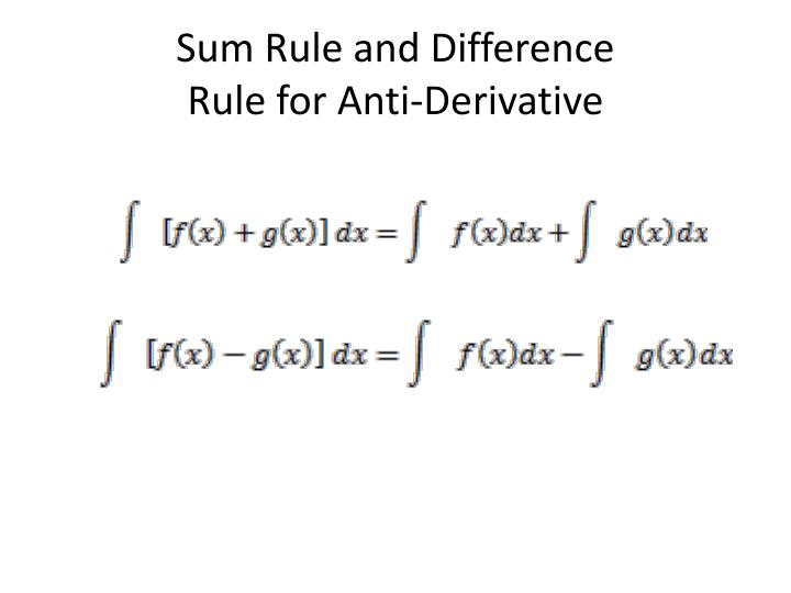 Sum Rule and Difference