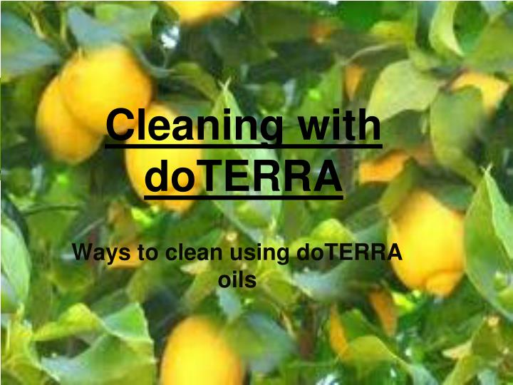 cleaning with doterra n.