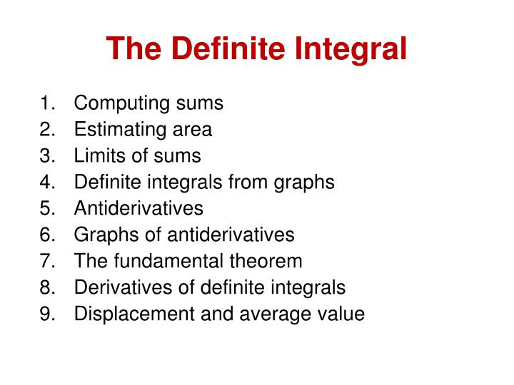 The Definite Integral