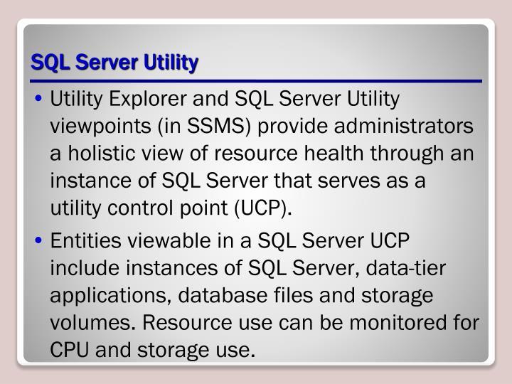 SQL Server Utility
