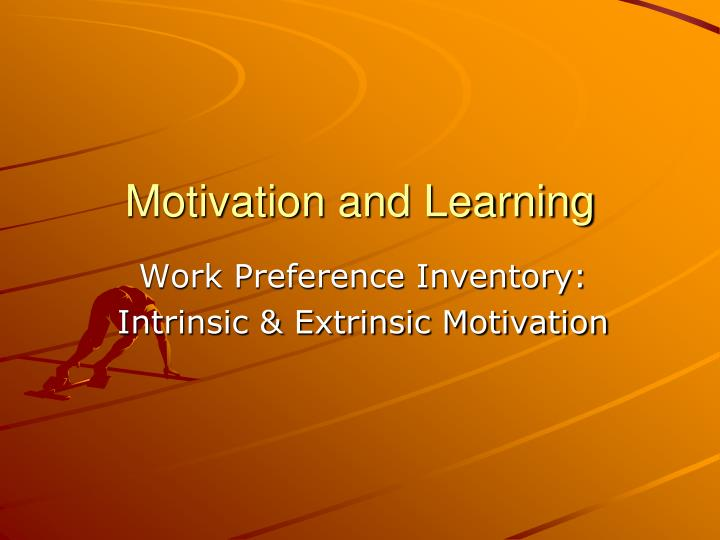 motivation and learning n.