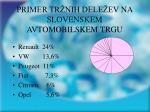 primer tr nih dele ev na slovenskem avtomobilskem trgu
