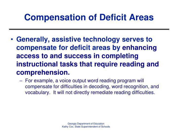 Compensation of Deficit Areas