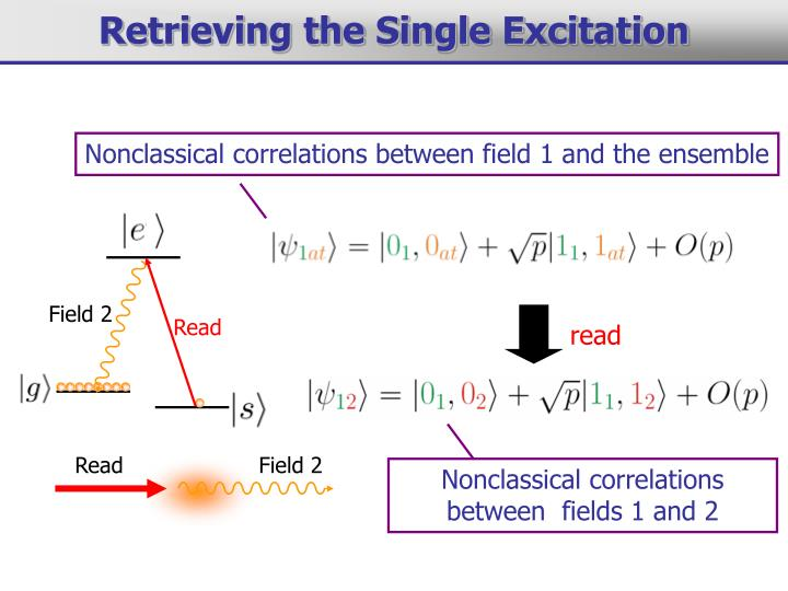 Nonclassical correlations between field 1 and the ensemble