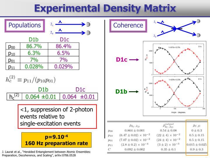 Experimental Density Matrix
