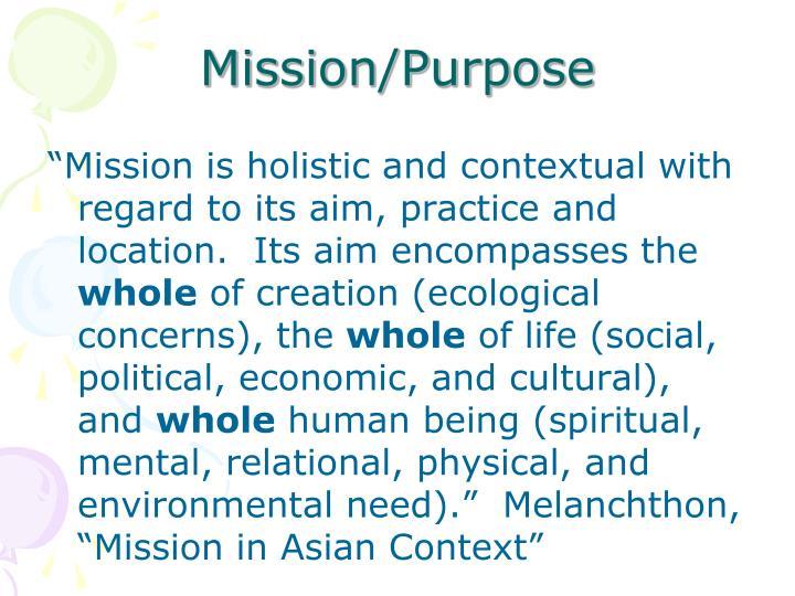 Mission/Purpose