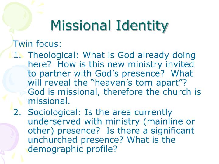 Missional Identity