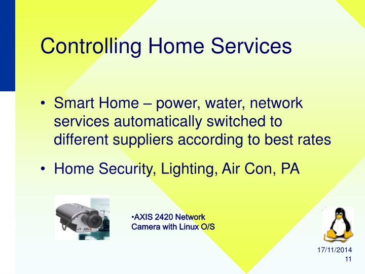 Controlling Home Services