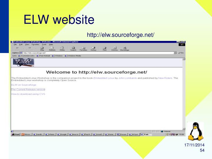 ELW website