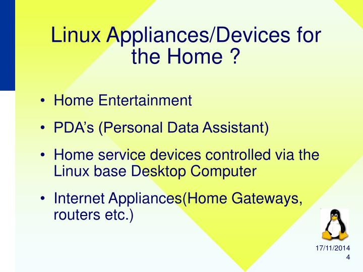 Linux Appliances/Devices for the Home ?