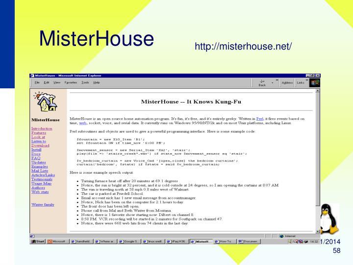 MisterHouse