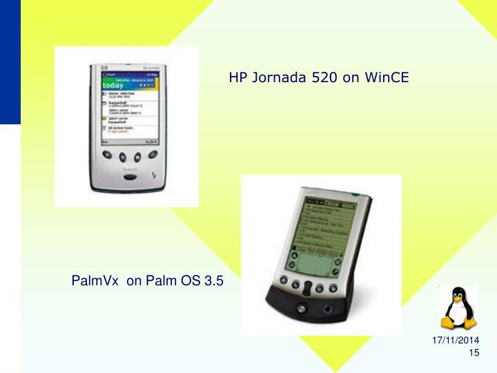 HP Jornada 520 on WinCE