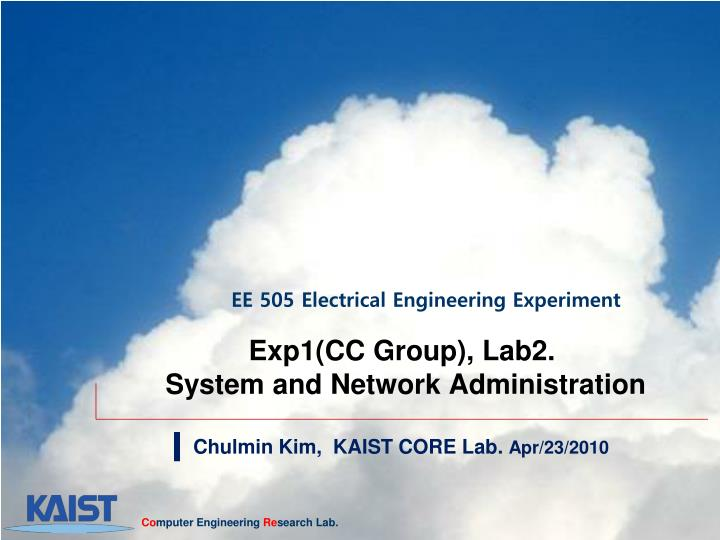 exp1 cc group lab2 system and network administration