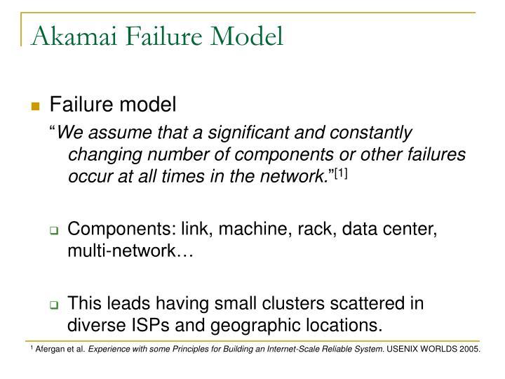 Akamai Failure Model