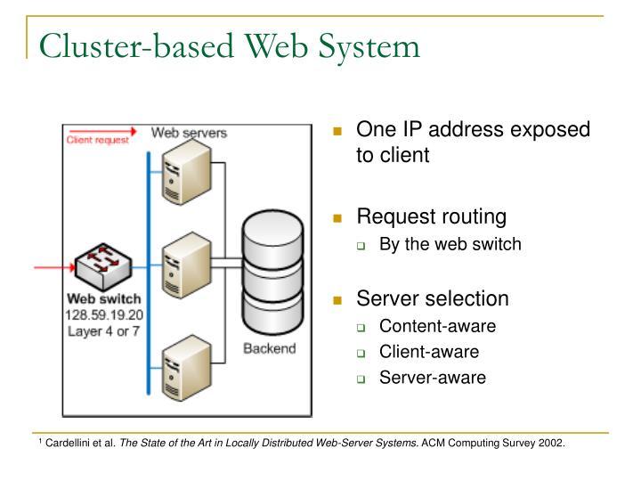Cluster-based Web System