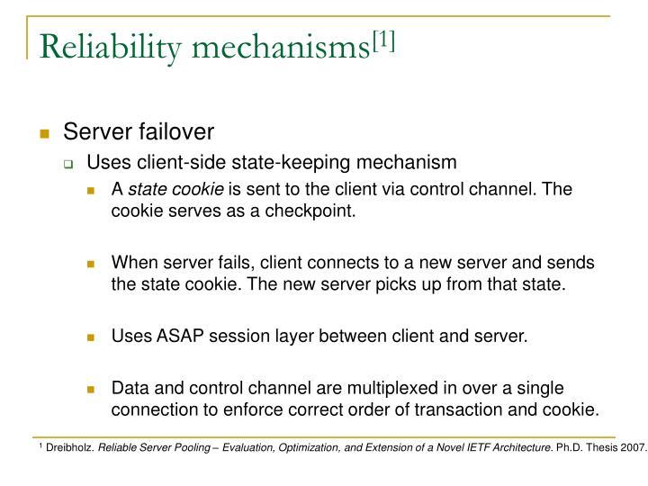 Reliability mechanisms