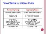 formal writing vs informal writing