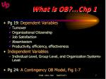 what is ob chp 14