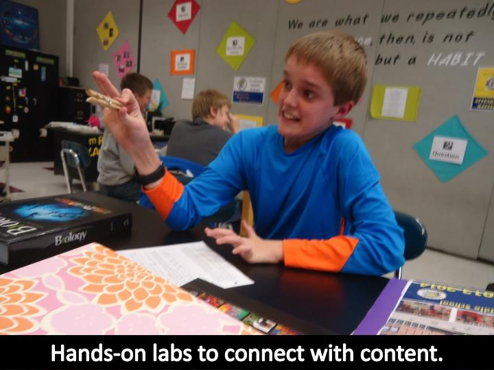Hands-on labs to connect with content.
