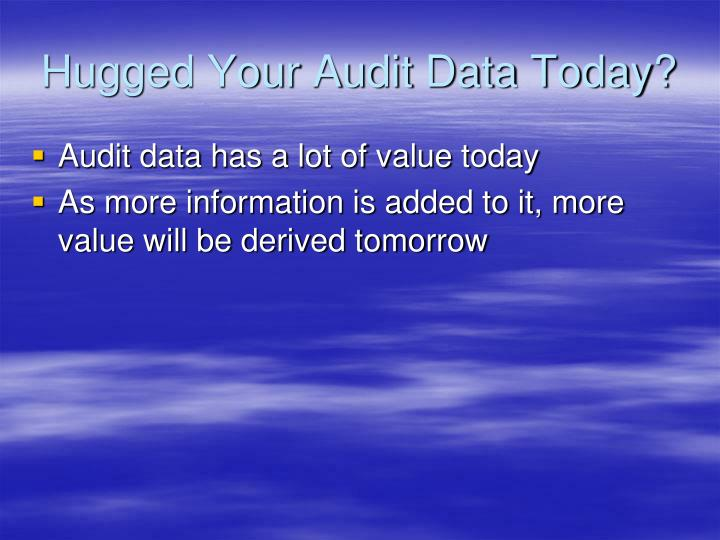 Hugged Your Audit Data Today?