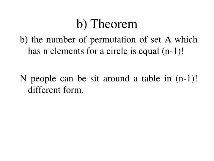 b) Theorem