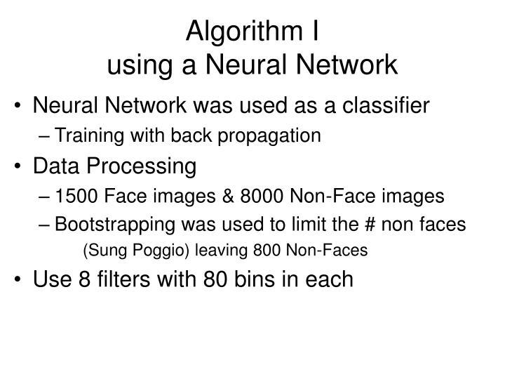 Algorithm I