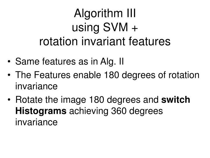 Algorithm III