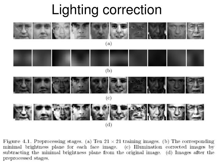 Lighting correction