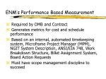enm s performance based measurement