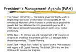 president s management agenda pma