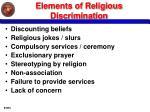 elements of religious discrimination