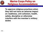 marine corps policy on religious accommodations