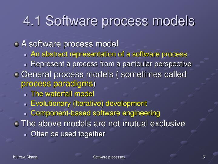 4.1 Software process models
