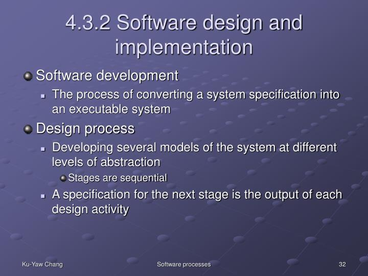 4.3.2 Software design and implementation