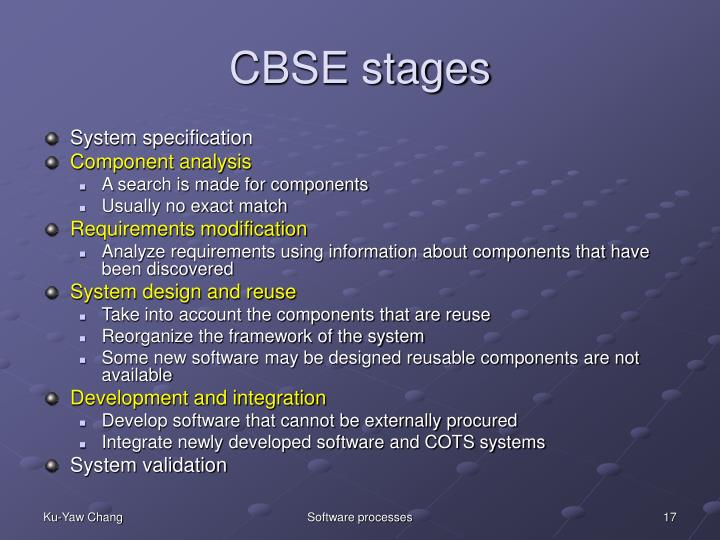 CBSE stages