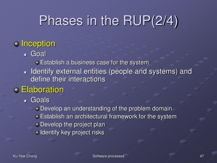 Phases in the RUP(2/4)