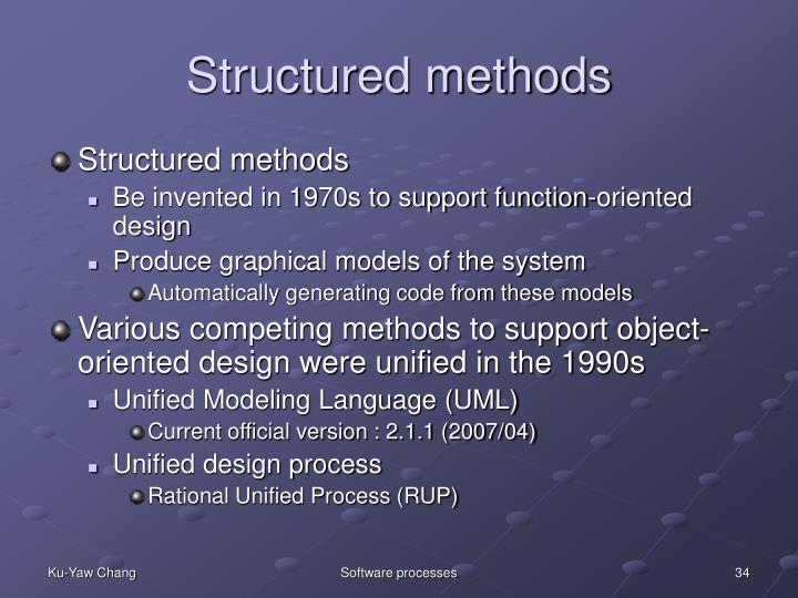 Structured methods
