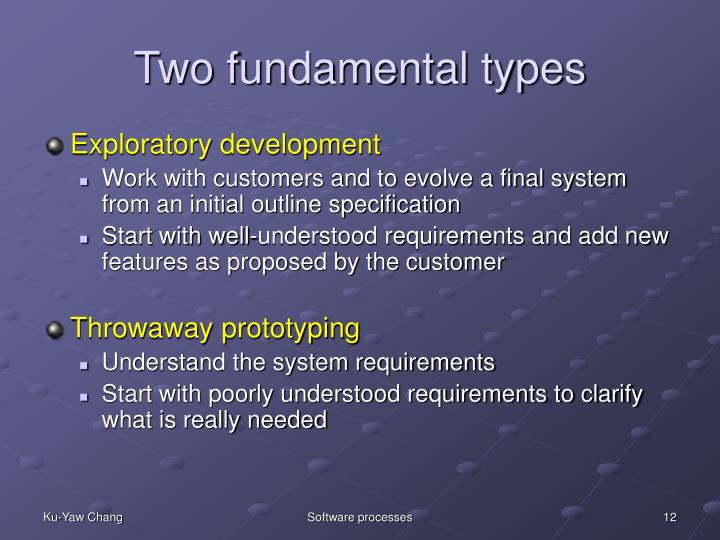 Two fundamental types