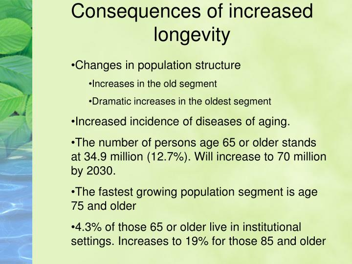 Consequences of increased longevity