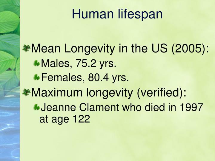 Human lifespan