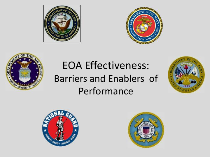 eoa effectiveness barriers and enablers of performance n.