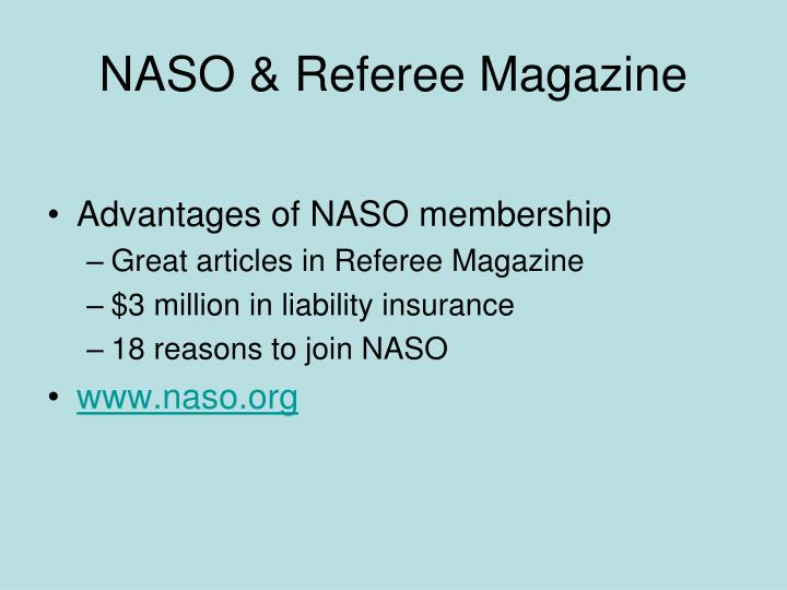 NASO & Referee Magazine