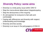 diversity policy some aims