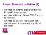 project diversity activities 1