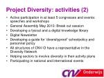 project diversity activities 2