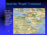 israel the people continued1