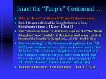 israel the people continued14